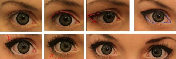 Как сделать глаза толще 822
